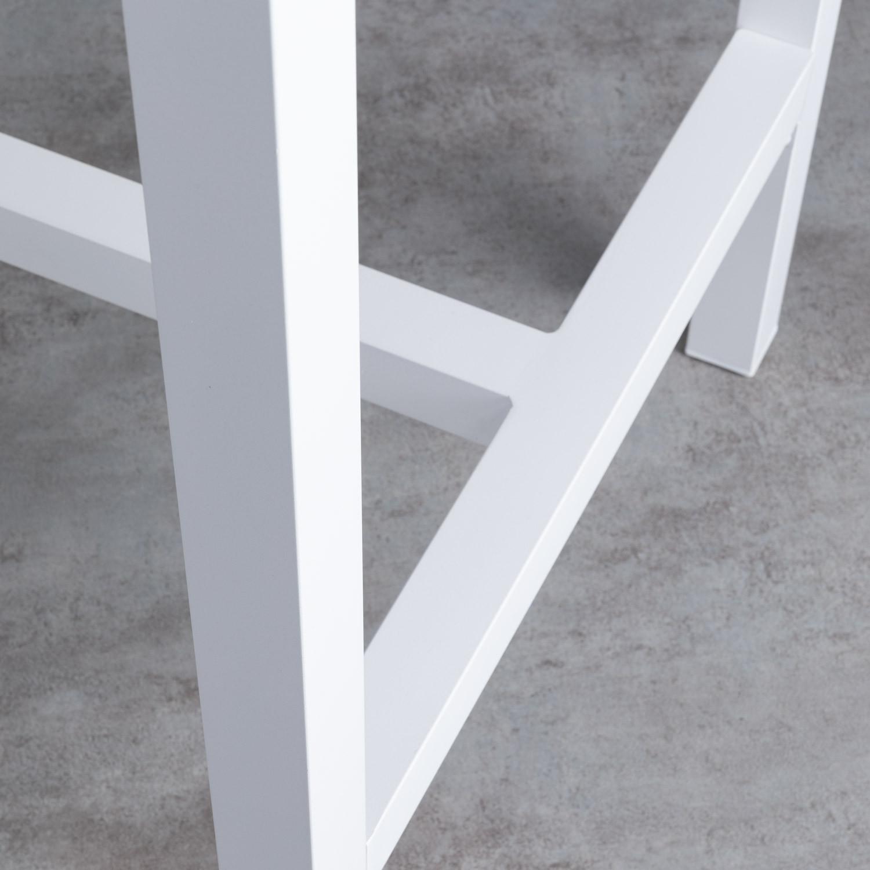 Tavolo Alto da Esterno in Acciaio (120x70 cm) Korce ...