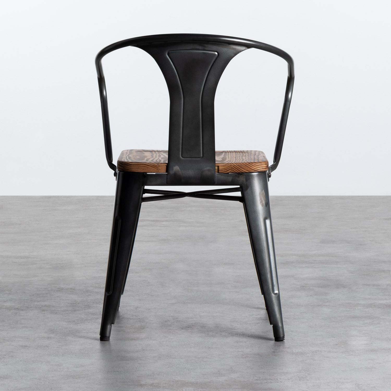 Sedia in Acciaio e Legno Industrial Wood - themasie.com